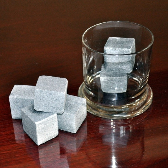WHISKEY STONES - Soapstone rock ice cubes - Don't Dilute