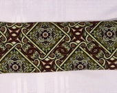Eye Pillow - Green and Brown Scrolls