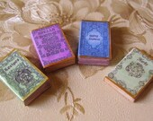Four Witchy Books - Spells, Recipes, Herbs And Gypsy Journal - Miniature Dollhouse Scale