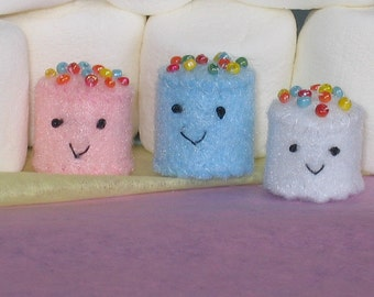 Mini marshmallows felt plush set of three