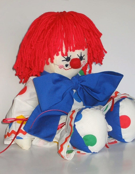 Vintage Clown in Polka Dots and ric rac