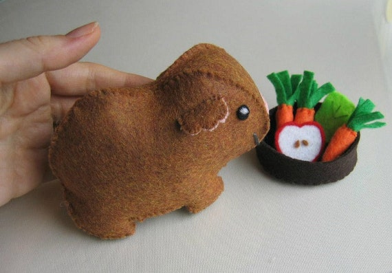 Felt Food Toys R Us : Items similar to guinea pig with food bowl felt play set