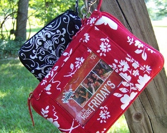 SALE Wristlet all in one pdf pattern Ipod Cell Phone Check Book with e-file Immediate Download