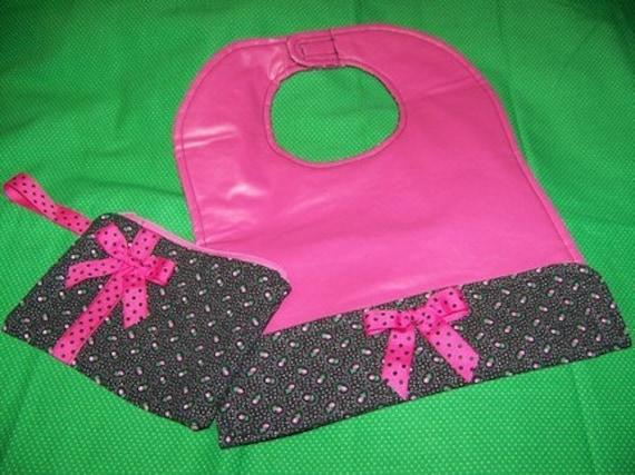 pdf Pattern Sale Toddler Bib and Wristlet