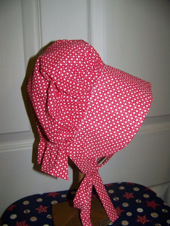 Baby Sun Bonnet prairie with soft calico fabric,childs costume