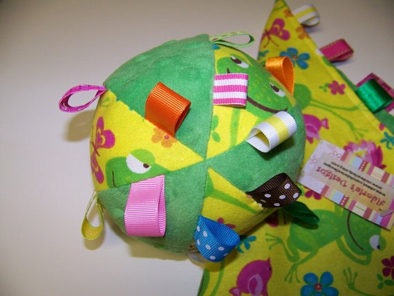 "Taggie Ball toy for Baby pdf Pattern 5"" Dia. Infant Toy."