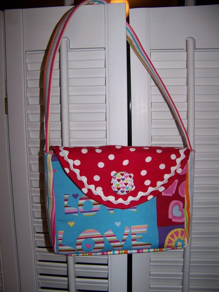 Little Girl Purse Pattern pdf and Tutorial easy by