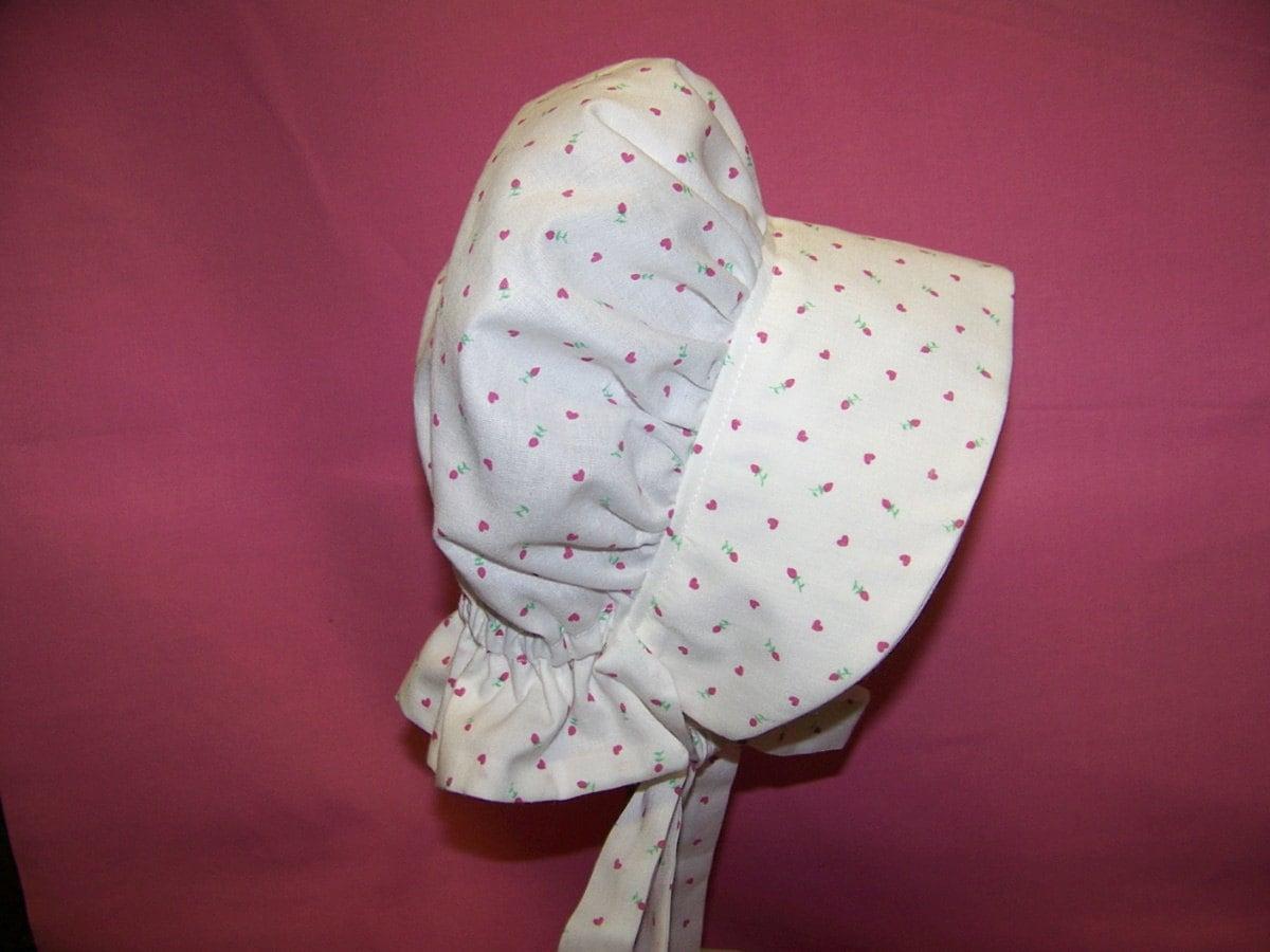 Baby Prairie Bonnet Pdf Pattern And Tutorial Sizes 3 To 6