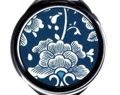 Compact Mirror - Vintage Chinese Fabric.