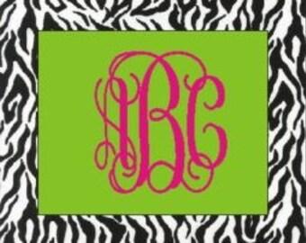 Monogrammed/Personalized Zebra Mousepad