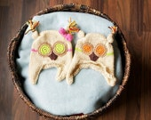 newborn twin owl hats for boy and girl