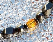 Amber Glass and Magnetite Magnetic bracelet by Happy and Healthy