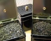 Colonial Tea Chest - Young Hyson and Superior green teas, Lichee Congou tea