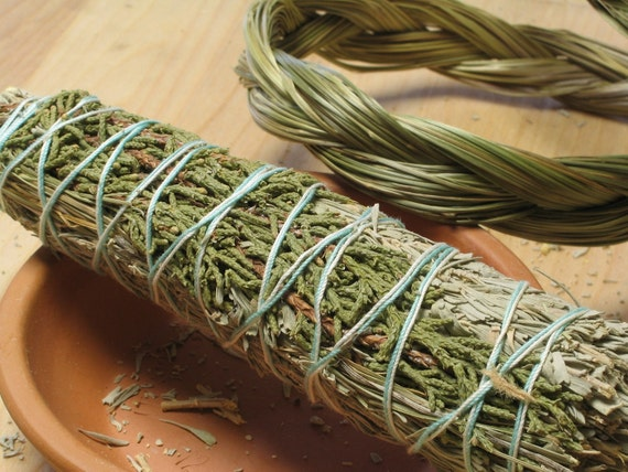 Desert Sage, Juniper and Sweetgrass Smudge Stick