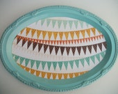 Scrappy Chic Tray--Banners