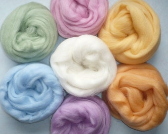 Oh, Sweet - Light Pastel wool roving one ounce of each color