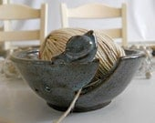 Knitting Bowl Yarn Bowl Bird Handmade Pottery Mother's Day Easter