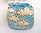 Cloud Plate Cloud Dish Tile Handmade Pottery Stoneware