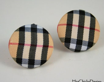 Handmade Covered Button Earrings