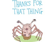 Thank You Card - Thanks For That Thing