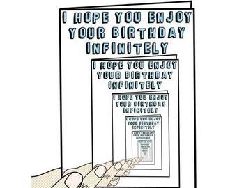 Birthday Card - I Hope You Enjoy Your Birthday Infinitely