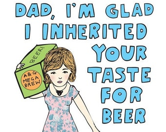 Father's Day Card - Taste in Beer