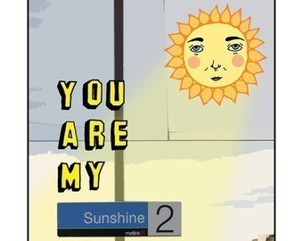 Melbourne Card - You Are My Sunshine