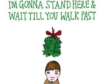 Christmas Card - Mistletoe Boy Version