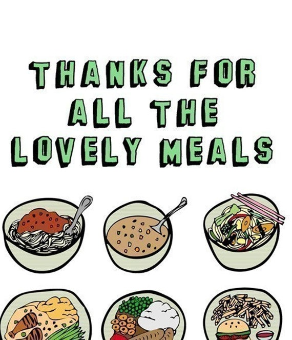 how to thank the meal