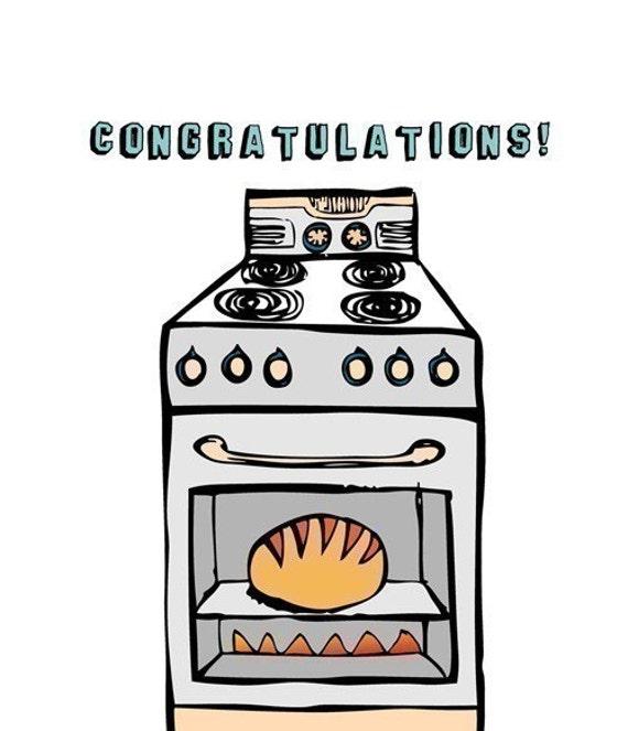 Pregnancy Card - Bun In The Oven