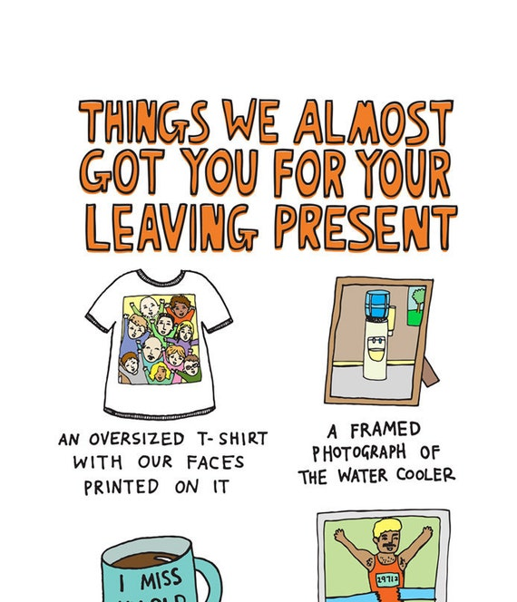 Greeting Card Things We Almost Got You For A Leaving Present