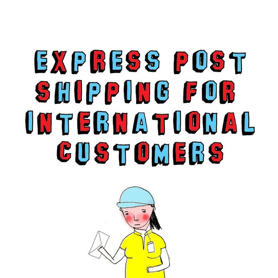 Express Shipping For International Customers - Strictly up to 10 cards only