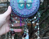 DeviDesigns Healing Crystals Amethyst Butterfly Goddess Wall Plaque