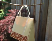 Giraffe Print Safari Tote, Designer Mini Handbag - Card, Gift Holder, Party Favor