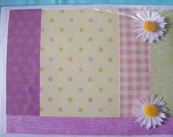 Pretty Princess Polka Dots and Gingham Checked All Occasion Birthday Card with Daisies