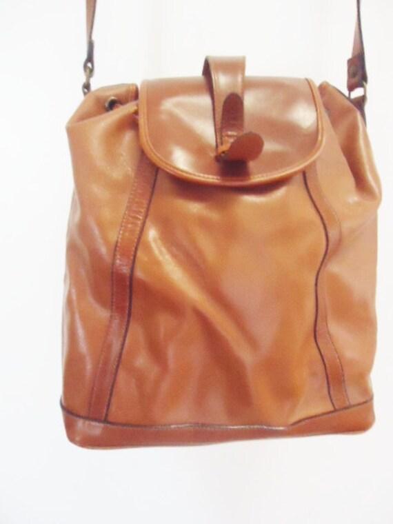vintage italian leather hobo over the shoulder bag