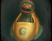 Muppet Art - With a Hard G -  Little Grover Figure Photography Print - Children's Room Decor
