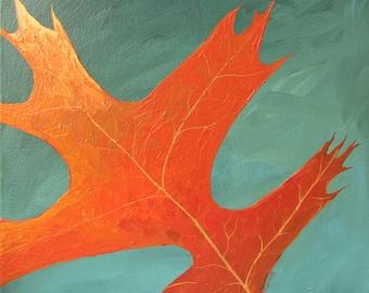 Leaf Series 1 - Original Acrylic Painting on Canvas