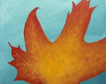 Leaf Series 7 - Original Acrylic Painting on Canvas