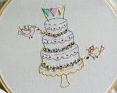Embroidery handmade pattern 9. Thinking big. TKF patterns and tutorials