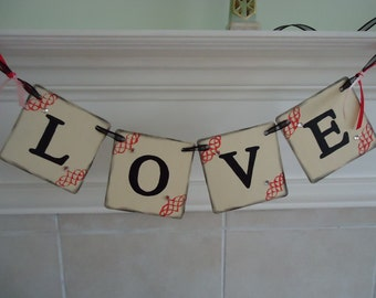 Wedding Banner - Love / Can Be Customized To Your Wedding Colors - Eco-Friendly