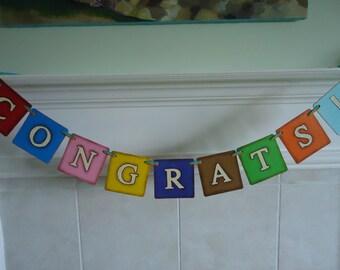 Congrats Grad Sign-Congrats Sign-Engagement Banner-Graduation Banner- Congrats Graduate-Graduation Party-Reception Sign-Congrats Good Job
