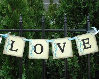 Wedding Banner-Love Banner-Wedding Love Sign-Bridal Shower Banner-Engagement Banner-Wedding Photo Prop-Anniversary Banner-Wedding Signs