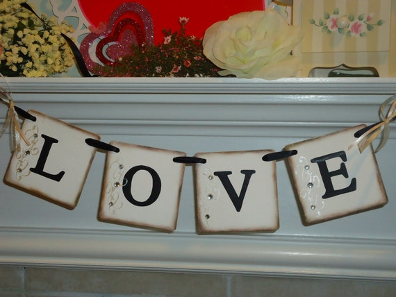 Love Banner-Garland-  Perfect Wedding, Bridal Shower-Anniversary- Or Valentines Day Sign-Photo Prop