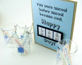 Uncool Birthday Card - Blue