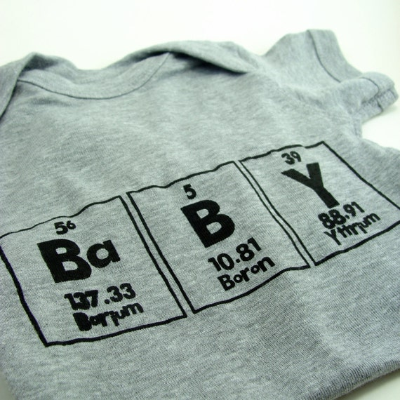 Baby bodysuit Chemistry Boy Clothes - Gray with Black