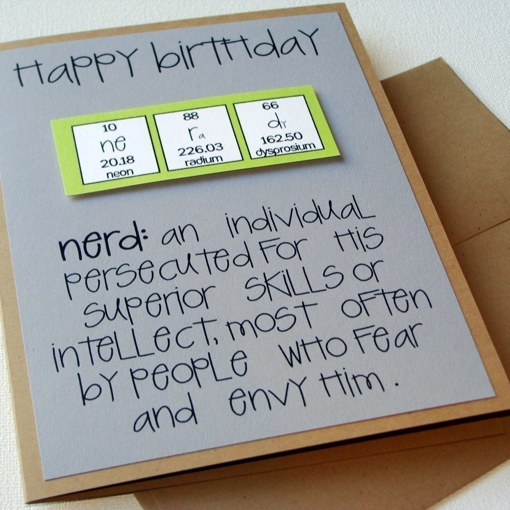 Chemistry periodic table birthday nerd card nerdilicious zoom gamestrikefo Image collections