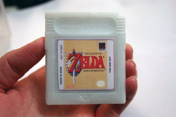 SOAP Gameboy cartridge parody with case, blackberry scent, Zelda title