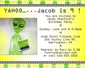 Alien Party - Printable Birthday Party Invitation - Pursenality Designs