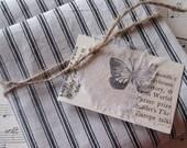 French Antique Vintage Mattress Ticking Cotton Fabric c.1900